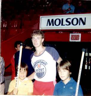 Wayne Gretzky and the Smolkin boys