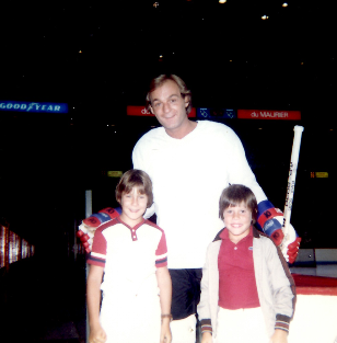 Montreal Canadian legend Guy Lafleur with the Smolkin boys
